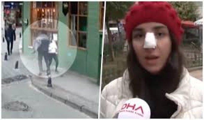 17 Yaşındaki Genç Kız Hiç Tanımadığı Biri Tarafından Yumruklandı