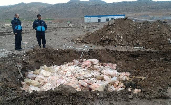 Kayseri'de 30 ton kaçak et imha edildi!