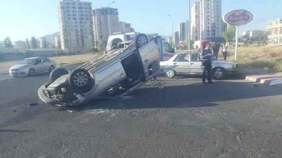 Feci trafik kazasında 9 kişi yaralandı!