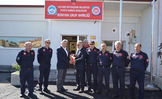 Başkan Özkan Altun'dan İtfaiyecilere Teşekkür