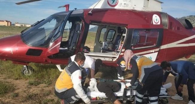 Hava ambulansı Kahramanmaraş'taki hasta için uçtu!