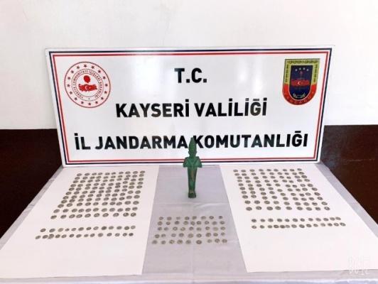 Kayseri'ye gelen 3 Tarihi eser kaçakçısı yakalandı!