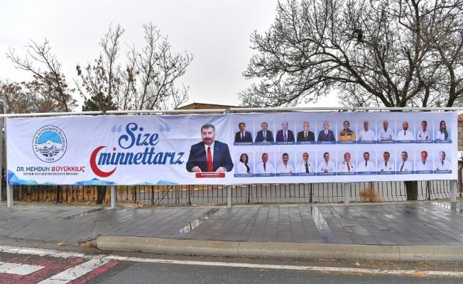 """Başkan Büyükkılıç'tan Bakan Koca ve sağlık çalışanlarına: """"Size minnettarız"""""""