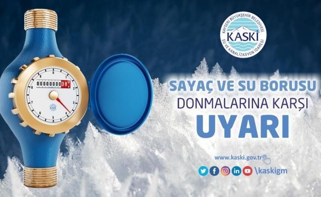 KASKİ'den su sayacı uyarısı