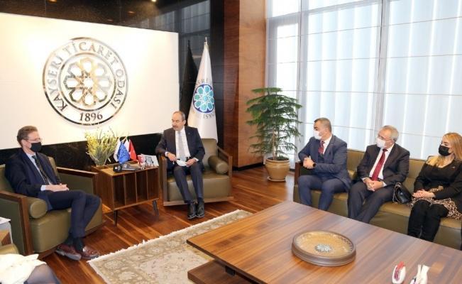 Başkan Büyüksimitci, AB Büyükelçisine Kayseri'nin sanayisi hakkında bilgi verdi