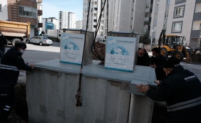 Çevre dostu Kocasinan, yeraltı konteynerin sayısını artırıyor