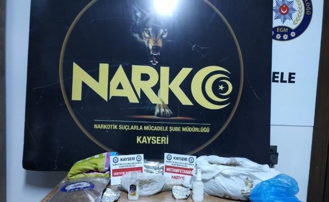 Kayseri'de 795 gram sentetik uyuşturucu ele geçirildi