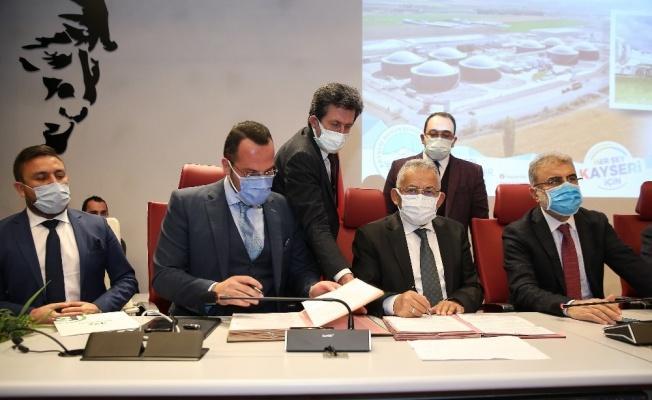 Kayseri'nin en büyük biyogaz santrali için imzalar atıldı