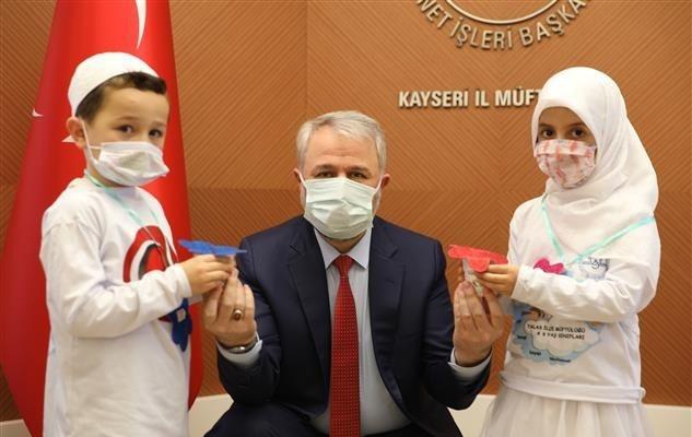 Türkiye Diyanet Vakfı'na en anlamlı destek minik öğrencilerden geldi