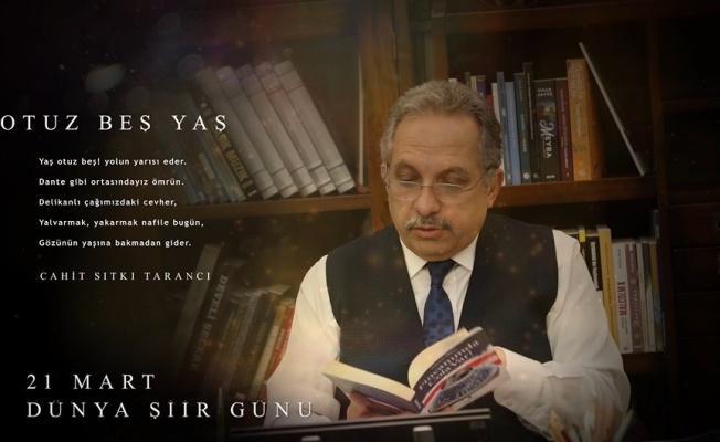 Başkan Yalçın'dan Şiir Günü Paylaşımı