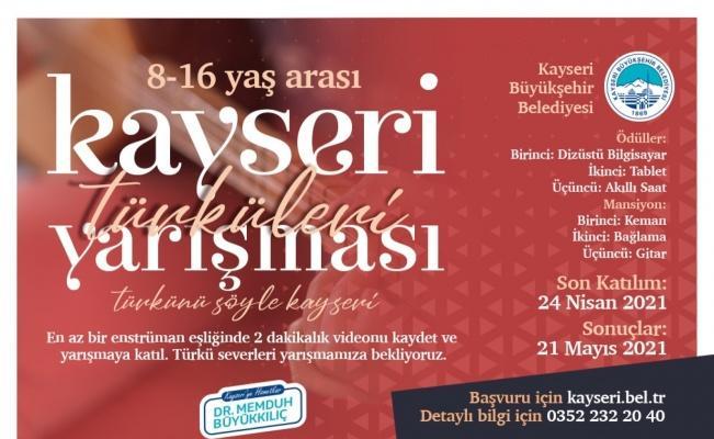 Büyükşehir'in Kayseri Türküleri Yarışması'na başvurular sunuyor