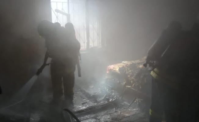 Evi yanan vatandaş için yardım kampanyası