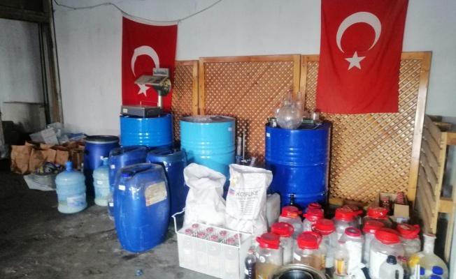 Fabrika ve iş merkezine uyuşturucu baskını