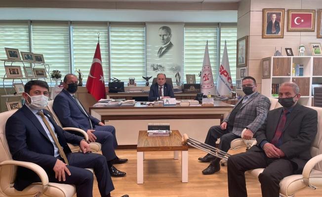 Ampute Futbol Kulüpler Birliği'nden Mehmet Baykan'a ziyaret