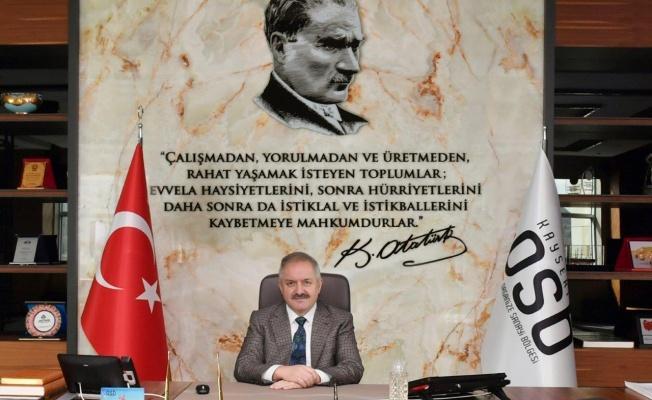 """Başkan Nursaçan: """"Atatürk, o karanlık günlerde dahi millet iradesine olan bağlılığını göstermiştir"""""""