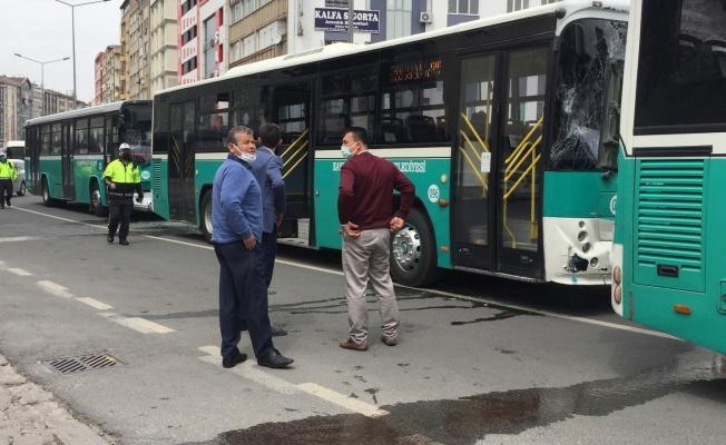 Halk otobüsleri zincirleme kaza yaptı