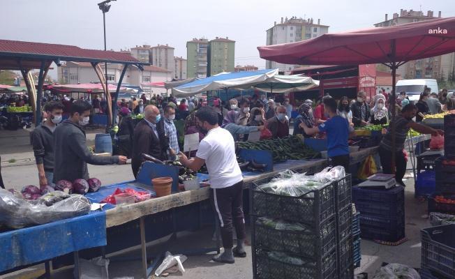 Kayseri semt pazarında isyan var…