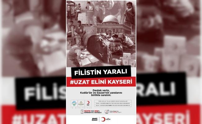 """Kayseri'de """"Filistin Yaralı Uzat Elini Kayseri"""" kampanyası başlatıldı"""