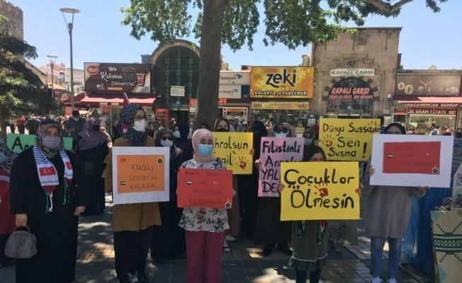 Kayserili annelerden Filistin'e destek