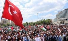 Kayseri'de İsrail protesto edildi!