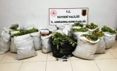 Kayseri'de çuval çuval uyuşturucu yakalandı!